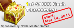 1st $1000 Cash Tournament
